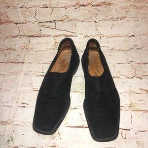 Donald J. Pliner Black Calf Suede Square Loafers-9
